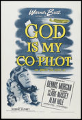 "Movie Posters:War, God Is My Co-Pilot (Warner Brothers, 1945). One Sheet (27"" X 41"").War. Starring Dennis Morgan, Dane Clark, Raymond Massey, ..."
