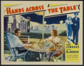 """Movie Posters:Comedy, Hands Across the Table (Paramount, 1935). Lobby Card (11"""" X 14""""). Comedy. Starring Carole Lombard, Fred MacMurray, Ralph Bel..."""