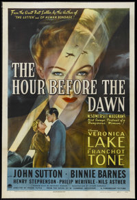 """The Hour Before the Dawn (Paramount, 1944). One Sheet (27"""" X 41""""). Drama. Starring Veronica Lake, Franchot Ton..."""