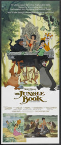 "Movie Posters:Animated, The Jungle Book (Buena Vista, R-1982). Insert (14"" X 36""). Family. Directed by Wolfgang Reitherman. Starring the voices of P..."