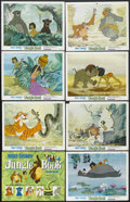 "Movie Posters:Animated, The Jungle Book (Buena Vista, 1967). Lobby Card Set of 8 (11"" X 14""). Animated Adventure. Starring the voices of Phil Harris... (Total: 8 Item)"