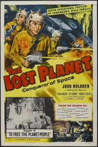 "The Lost Planet (Columbia, 1953). One Sheet (27"" X 41"") Chapter 10: ""To Free the Planet People"". Sci..."
