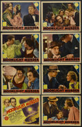 """Movie Posters:Mystery, Moonlight Murder (MGM, 1936). Lobby Card Set of 8 (11"""" X 14""""). Mystery. Starring Chester Morris, Madge Evans, Leo Carrillo, ... (Total: 8 Item)"""