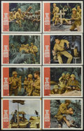 "Movie Posters:War, None But the Brave (Warner Brothers, 1965). Lobby Card Set of 8(11"" X 14""). War. Starring Frank Sinatra, Clint Walker, Tomm...(Total: 8 Item)"