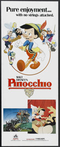 "Movie Posters:Animated, Pinocchio (Buena Vista, R-1984). Insert (14"" X 36""). Animated.Starring the voices of Dick Jones and Cliff Edwards. Directed..."