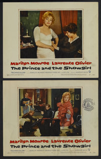 """The Prince and the Showgirl (Warner Brothers, 1957). Lobby Cards (2) (11"""" X 14""""). Romance. Starring Marilyn Mo..."""