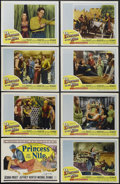 "Movie Posters:Adventure, Princess of the Nile (20th Century Fox, 1954). Lobby Card Set of 8(11"" X 14""). Adventure. Starring Debra Paget, Jeffrey Hun...(Total: 8 Item)"