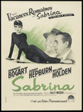 "Movie Posters:Romance, Sabrina (Paramount, 1954). French Petite (23.5"" X 31.5""). Romantic Comedy. Starring Humphrey Bogart, Audrey Hepburn, William..."