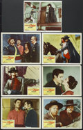 "Movie Posters:Adventure, The Sign of Zorro (Buena Vista, 1960). Lobby Cards (7) (11"" X 14"").Adventure. Starring Guy Williams, Henry Calvin, Gene She... (Total:7 Item)"
