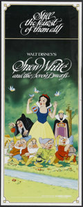 "Movie Posters:Animated, Snow White and the Seven Dwarfs (Buena Vista, R-1982). Insert (14""X 36""). Animated Musical. Starring the voices of Adriana ..."