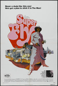 "Super Fly (Warner Brothers, 1972). One Sheet (27"" X 41""). One of the groundbreaking blaxploitation films from..."