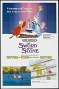 """Movie Posters:Action, The Sword in the Stone (Buena Vista, R-1983). One Sheet (27"""" X 41""""). Animated Musical. Starring the voices of Sebastian Cabo..."""