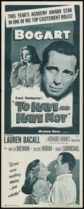 "Movie Posters:Romance, To Have and Have Not (Warner Brothers, R-1952). Insert (14"" X 36""). Thriller. Starring Humphrey Bogart, Walter Brennan, Laur..."