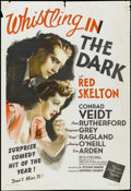 "Movie Posters:Comedy, Whistling in the Dark (MGM, 1941). One Sheet (27"" X 41""). Red Skelton appears in the first of the ""Whistling"" series of film..."