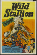 "Movie Posters:Western, Wild Stallion (Monogram, 1952). One Sheet (27"" X 41""). Western. Starring Ben Johnson, Edgar Buchanan, Martha Hyer, Hayden Ro..."
