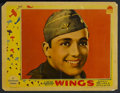 "Movie Posters:Action, Wings (Paramount, 1927). Lobby Card (11"" X 14""). War. Starring Clara Bow, Charles ""Buddy"" Rogers, Richard Arlen and Gary Coo..."