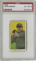 Baseball Cards:Singles (Pre-1930), 1909-11 T206 Heinie Berger PSA EX-MT 6. The fierce spitballer Heinie Berger is the subject of the astounding example from t...