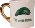 "Movie/TV Memorabilia:Memorabilia, A John Wayne / Edward Faulkner Coffee Mug from ""The GreenBerets.""..."