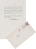 "Movie/TV Memorabilia:Memorabilia, A Margaret Mitchell Signed Letter Relating to ""Gone With The Wind,""1936...."