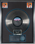 "Movie/TV Memorabilia:Memorabilia, A Whitney Houston-Related RIAA Multi-Platinum Sales Award for ""Whitney Houston,"" 1985...."
