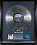 "Movie/TV Memorabilia:Memorabilia, A Whitney Houston-Related RIAA Platinum Sales Award for ""Whitney,""1987...."