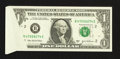 Error Notes:Foldovers, Fr. 1930-B $1 2003A Federal Reserve Note. Gem Crisp Uncirculated.....