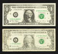 Error Notes:Inking Errors, Fr. 1925-L $1 1999 Federal Reserve Note. Very Good;. Fr. 1928-D $1 2003 Federal Reserve Note. Very Fine-Extremely Fine.... (Total: 2 notes)