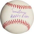"Autographs:Baseballs, Ernie Banks ""Happy Birthday"" Single Signed Baseball...."