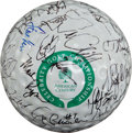 Golf Collectibles:Autographs, Sports Stars Multi Signed Huge Golf Ball....