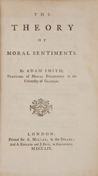 Adam Smith. The Theory of Moral Sentiments. London: Printed for A. Millar, in the Strand; and A
