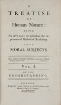 Books:Philosophy, David Hume. A Treatise of Human Nature: Being an attemptto introduce the experimental Method of Reasoning into Mo...(Total: 2 Items)