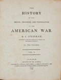 Books:Americana & American History, Charles Stedman. The History of the Origin, Progress, andTermination of the American War. London: Printed for t...(Total: 2 Items)