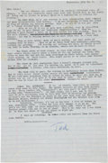 "Autographs:Authors, [Dr. Seuss]. Theodor Geisel Typed Letter Signed ""Ted.""..."