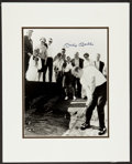 Baseball Collectibles:Photos, Mickey Mantle Signed Oversized Photograph - Rare Golfing Shot!...