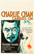 "Movie Posters:Mystery, Charlie Chan Carries On (Fox, 1931). Window Card (14"" X 22"").. ..."