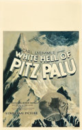"Movie Posters:Adventure, The White Hell of Pitz Palu (Universal, 1929). Window Card (14"" X22"").. ..."