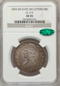 Bust Half Dollars: , 1834 50C Small Date, Small Letters XF45 NGC. CAC. O-115. PCGSPopulation (142/539). (#6166)...