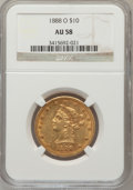 Liberty Eagles: , 1888-O $10 AU58 NGC. NGC Census: (73/465). PCGS Population(52/307). Mintage: 21,335. Numismedia Wsl. Price for problem fre...
