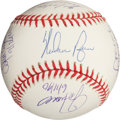 Autographs:Baseballs, Circa 2000 Nolan Ryan & No-Hit Catchers Multi-SignedBaseball....