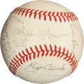 Autographs:Baseballs, 1986 Boston Red Sox Team Signed Baseball....