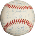 Autographs:Baseballs, 1945 St. Louis Browns Team Signed Baseball with Pete Gray....