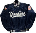 Baseball Collectibles:Uniforms, 2001 Don Mattingly Game Worn New York Yankees Jacket....