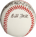 "Autographs:Baseballs, 1980's Bibb Falk ""I Replaced Shoeless Joe"" Single Signed Baseball...."