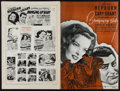 """Movie Posters:Comedy, Bringing Up Baby (RKO, 1938). Cut Pressbook (Multiple Pages, 12"""" X18""""). Comedy.. ..."""