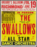 """Movie Posters:Rock and Roll, The Swallows Doo-Wop / R & B Band (Richmond, Va., 1953).Concert Performance Poster (22"""" X 28.5""""). Rock and Roll.. ..."""