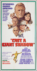 "Movie Posters:War, Cast a Giant Shadow (United Artists, 1966). Three Sheet (41"" X81""). War.. ..."