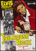 "Movie Posters:Elvis Presley, Jailhouse Rock (Stockholm Film, R-1966). Swedish One Sheet (27"" X39""). Elvis Presley.. ..."