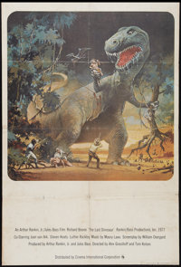 "The Last Dinosaur (Cinema International, 1977). British One Sheet (27"" X 40""). Science Fiction"