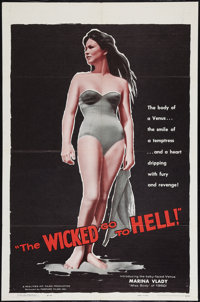 "The Wicked Go to Hell (Fanfare, 1960). One Sheet (27"" X 41""). Exploitation"