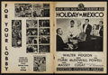 """Movie Posters:Musical, Holiday in Mexico (MGM, 1946). Uncut Pressbook (Multiple Pages, 11""""X 15""""). Musical.. ..."""